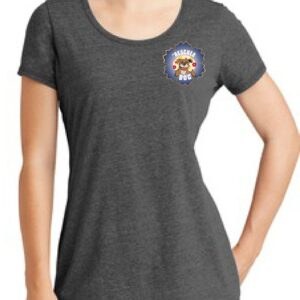 Fiesta De Fido Women's Scoop Neck Tee Gray