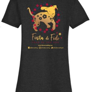 Fiesta De Fido Women's V neck Tee Black