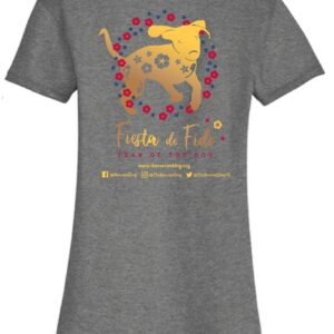 Fiesta De Fido Women's V neck Tee Gray